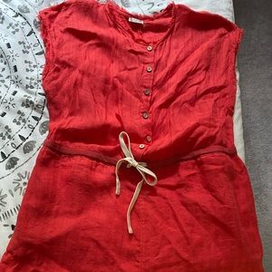 Free people coral romper size small